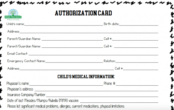 Emergency Authorization Form