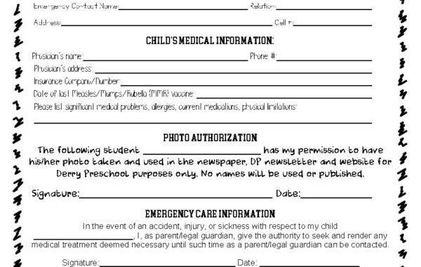 Emergency Authorization Form